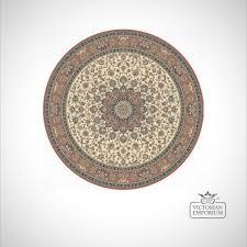 circular victorian rug style ka12217 beige rose