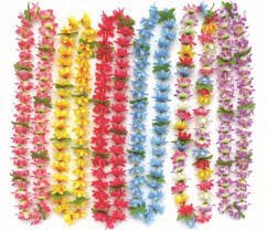party supplies hawaiian flower lei garland hawaii wreath cheerleading s artificial necklace 50pcs lot 2117