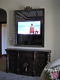 flat screen tv furniture ideas. 46 inch samsung led television mirror with custom mediterranean frame and beveled glass over dresser flat screen tv furniture ideas