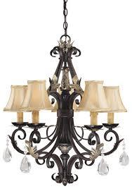 minka lavery bellasera 5 light chandelier in bronze crystal chandeliers chandeliers