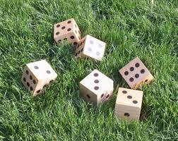 Wooden Yard Games DIY Wooden Yard Dice Sometimes Homemade 34