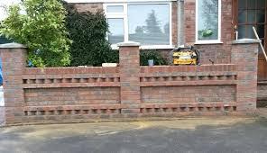 Stylist Inspiration Decorative Brick Wall Also Cool Effect Stunning Garden  Designs Front Uk