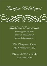 Formal Christmas Party Invitations Formal Scroll Invitation Holiday Party Invitations From