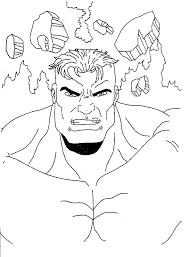 Disegno Hulk Numero 2 Da Stampare E Colorare