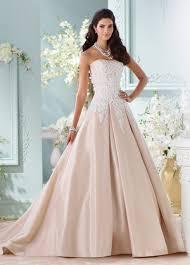 champagne taffeta lace ball gown wedding dress 116217 alleen