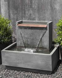 glass waterfall wall outdoor gl indoor water fountain diy india diy