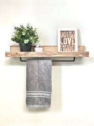 towel bar with shelf use towel rack in kitchen instead of under the sink bathroom glass