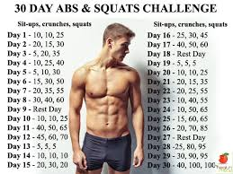 men s fitness 30 day abs and squats challenge