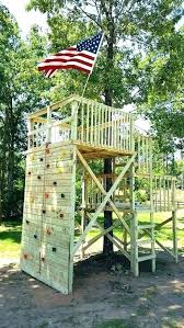 kid outdoor fort ideas kids tree plans