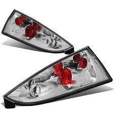 02 07 Ford Focus Rear Brake Tail Lights Altezza Style Chrome Housing Ford Focus Tail Light 07 Ford Focus