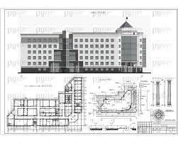 Скачать бесплатно дипломный проект ПГС Диплом № Здание  1 Фасад 1 17 план 5 этажа на отм 16 500 генплан фрагменты фасада jpg