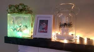 craft decorating a glass block