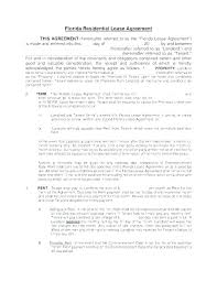 simple rental agreement florida residential lease agreement template residential lease