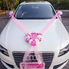tulle noeud ruban kit de décoration de voiture mariage luxe fushia