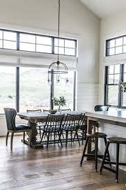 table and island narrow overhang smi modern farmhouse kitchen and dining nook sita montgomery interiors