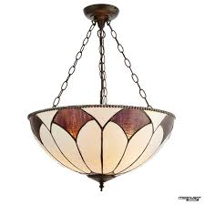 tiffany glass aragon large inverted 3 light pendant