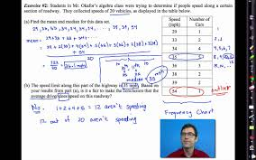 common core algebra i unit 10 lesson 3 measures of central tendency you