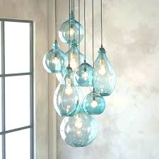 hand blown glass pendant lights hand blown glass pendant lighting foyer staircase chandelier intended for regarding