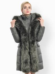 two way zipper long deluxe thick faux fur hooded women down parka coat