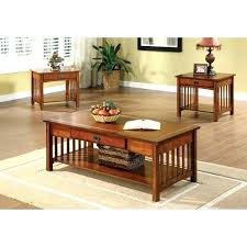 three piece coffee table set mission 3 piece coffee table set by hazelwood home