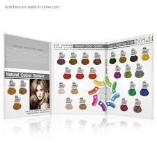 Hot Item Wholesale Customized Hair Color Design Hair Colour Chart