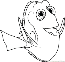 Interesting Dory Finding Nemo Coloring Pages And From Coloring