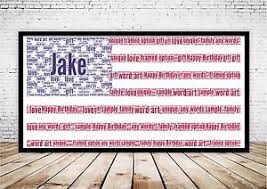 american flag word art personalised usa american flag word art gift print unique sports