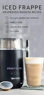 If you have an espresso machine, simply brew espresso and let it cool. Our Favorite Part About This Easy Recipe For Iced Frappe Is That It Is Made Using The Nespresso Vertuo Co Iced Coffee Maker Coffee Maker Recipes Barista Recipe