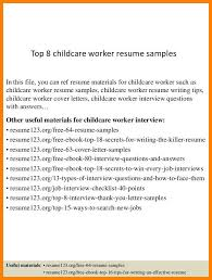 Church Nursery Worker Sample Resume Best 4848 Child Care Worker Resume Samples B48l