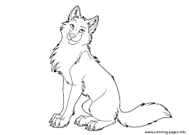 Cartoon Cute Wolf Coloring Pages Printable