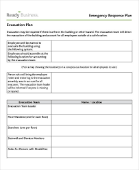 Evacuation Plan Sample Free 29 Emergency Plan Examples In Pdf Google Docs Word