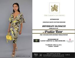beverley olivacce fashion show at the garden city hotel
