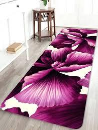 purple fl area rugs flower pattern water absorption floor rug jam inch limited offer