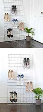 grid shoe storage display with shoe storage ideas diy