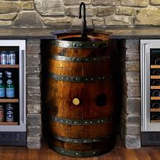 reversible reclaimed wine barrel. reclaimed wine barrel bar sink reversible t