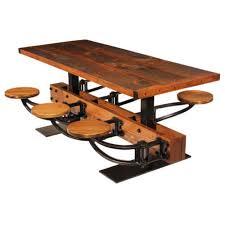 Industrial furniture table Unusual Industrial Swing Out Seat Dining Table Industrial Dining Table Ebay Industrial Furniture Lighting Originals Custom Pieces Get