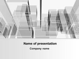Architectural Powerpoint Template Abstract Architecture Free Presentation Template For