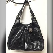 Authentic Coach Madison Black Croc Embossed Purse