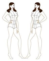 female body outline template designers nexus free croqui flat fashion designs and photoshop and