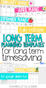 Lesson Plan Series The Planning Calendar Teaching