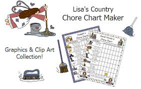 Chore Chart Maker Print Chore Charts Online Graphics And