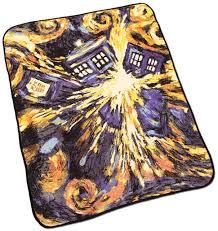 Doctor Who Exploding Tardis Throw Blanket