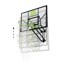 exit galaxy wall mounted basketball backboard green black