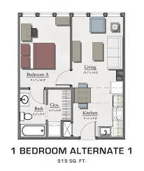 one bedroom apartment alt 1