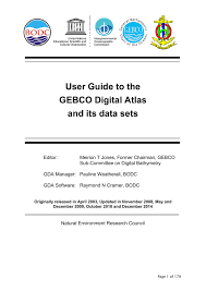 User Guide To The Gebco Digital Atlas And Its Data Sets