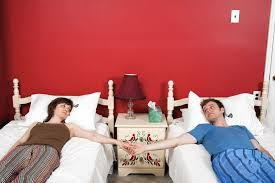 happy couples separate beds the joy