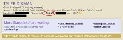 Spg Points Redemption Chart 10 Insane Ways You Can Blow One Million Starwood Points