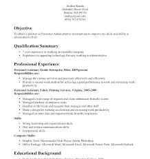 Examples Of Career Objective For Resume Admin Objective For Resume ...
