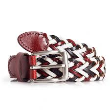 womens braided leather belt multicolor fits waist sizes 28in 35in laticci