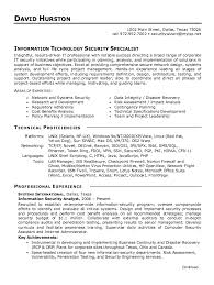 Security Specialist Resume Sample Best of It Security Analyst Resume Sample Benialgebraincco